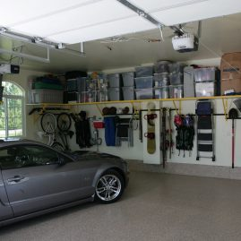 Garage Shelving in Charlotte with Monkey Bars Shelving System