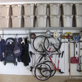 Garage wall shelving in Matthews