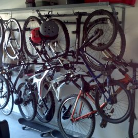 garage-shelving-Indian Trail-closeup-bike